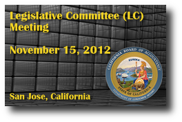 Legislative Committee (LC) Meeting - November 15, 2012