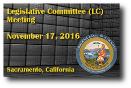 Legislative Committee (LC) Meeting - November 17, 2016