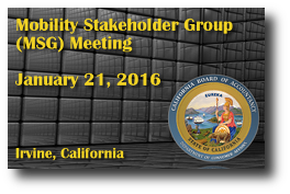 Mobility Stakeholder Group (MSG) Meeting - January 21, 2016
