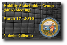 Mobility Stakeholder Group (MSG) Meeting - March 17, 2016