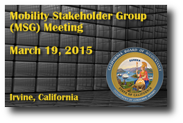Mobility Stakeholder Group (MSG) Meeting - March 19, 2015