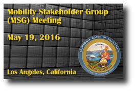 Mobility Stakeholder Group (MSG) Meeting - May 19, 2016
