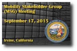 Mobility Stakeholder Group (MSG) Meeting - September 17, 2015