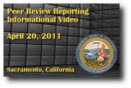 Peer Review Reporting Informational Video - April 20, 2011