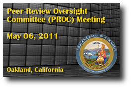 Peer Review Oversight Committee (PROC) Meeting - May 06, 2011