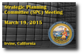 Strategic Planning Committee (SPC) Meeting - March 19, 2015