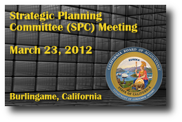 Strategic Planning Committee (SPC) Meeting - March 23, 2012