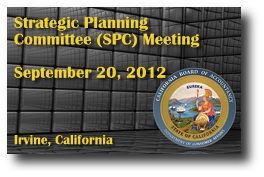 Strategic Planning Committee (SPC) Meeting - September 20, 2012