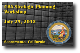 CBA Strategic Planning Workshop - July 25, 2012